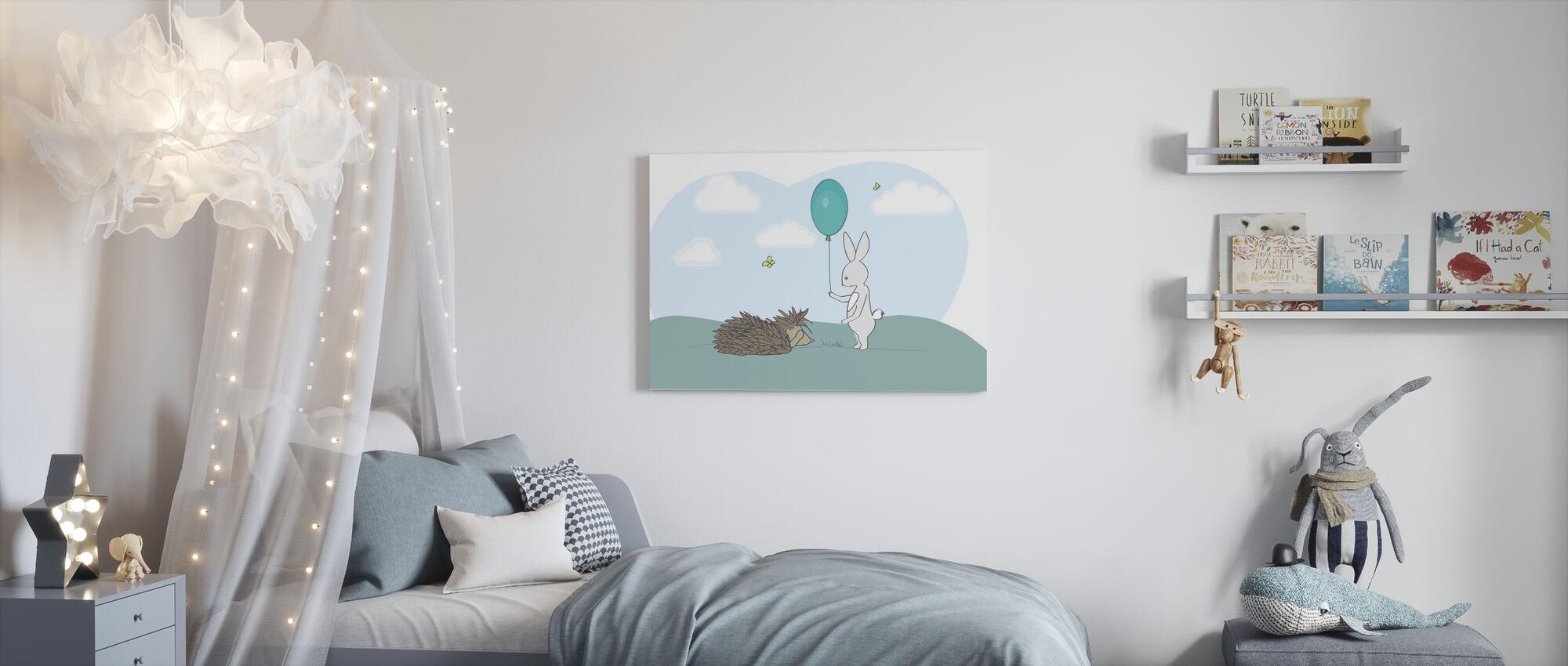 Storm and Sarah - Canvas print - Kids Room