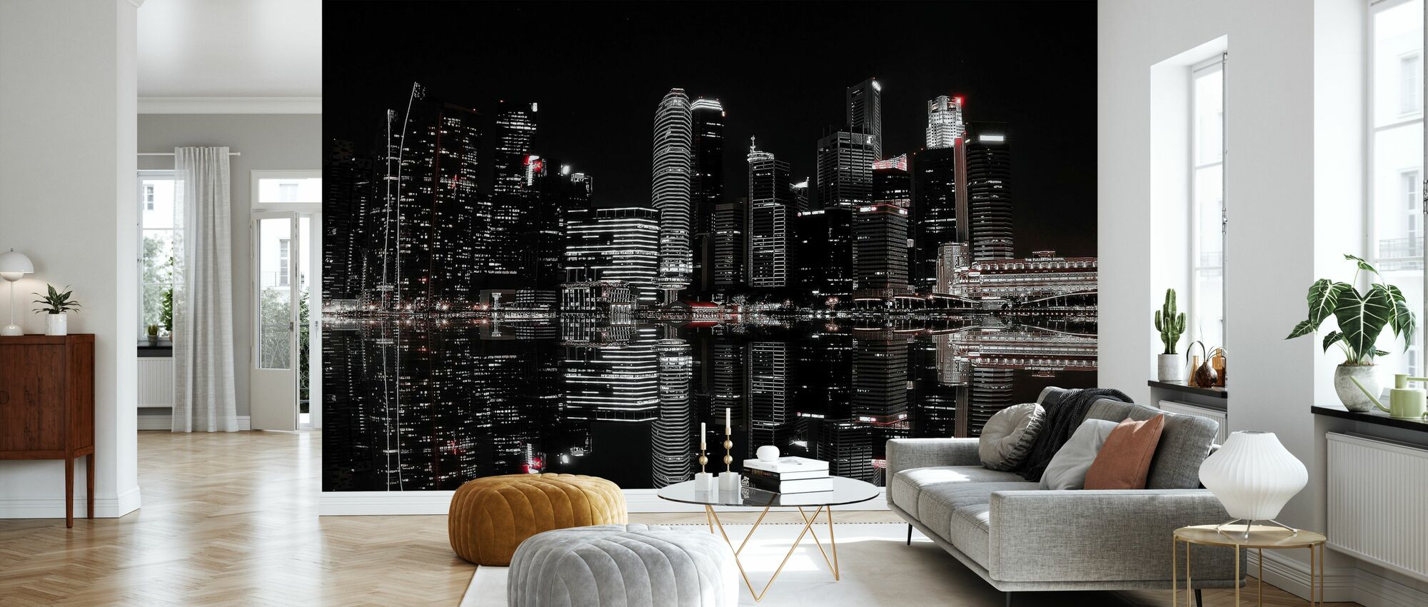 Natt i Singapore - Tapet - Vardagsrum