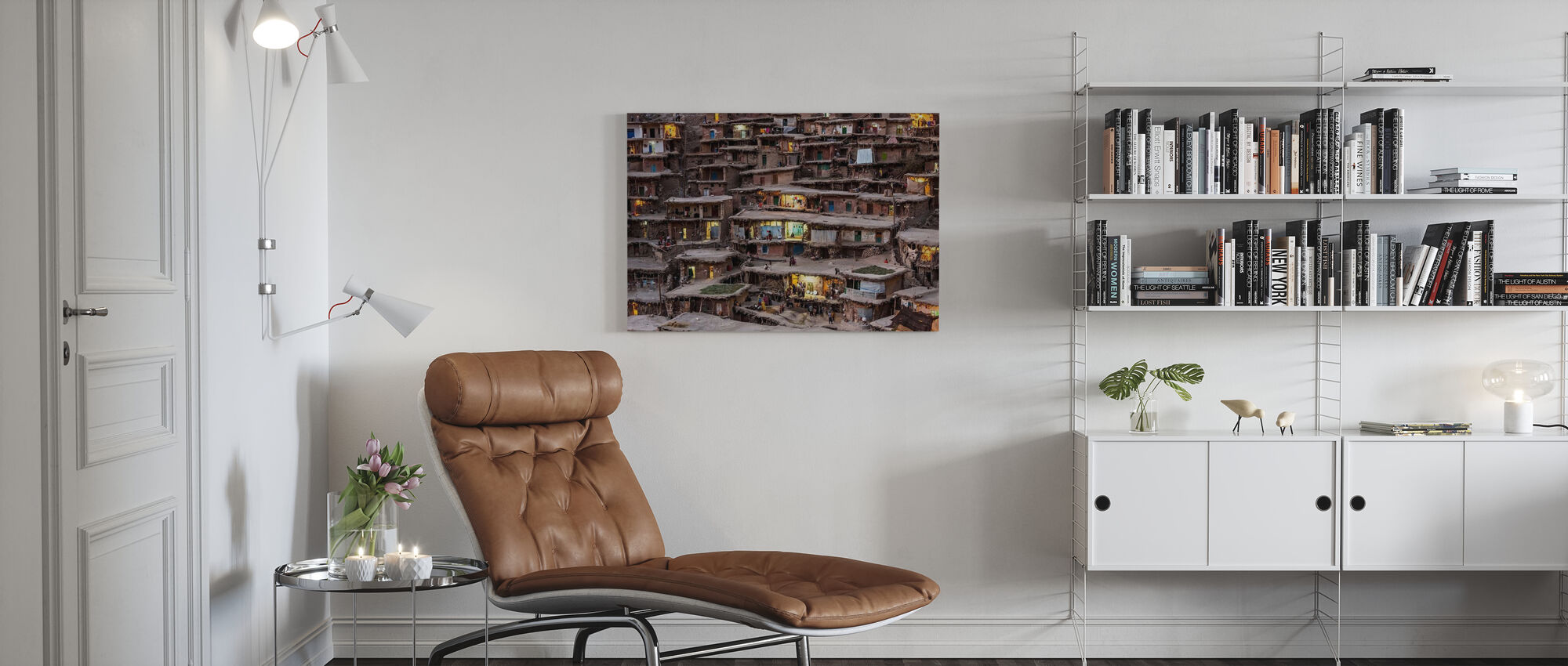 Iranian Slope Village - Canvas print - Living Room