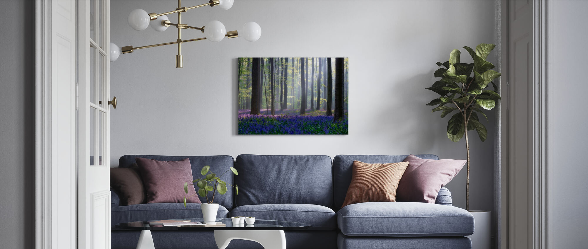 Blåklockor - Canvastavla - Vardagsrum