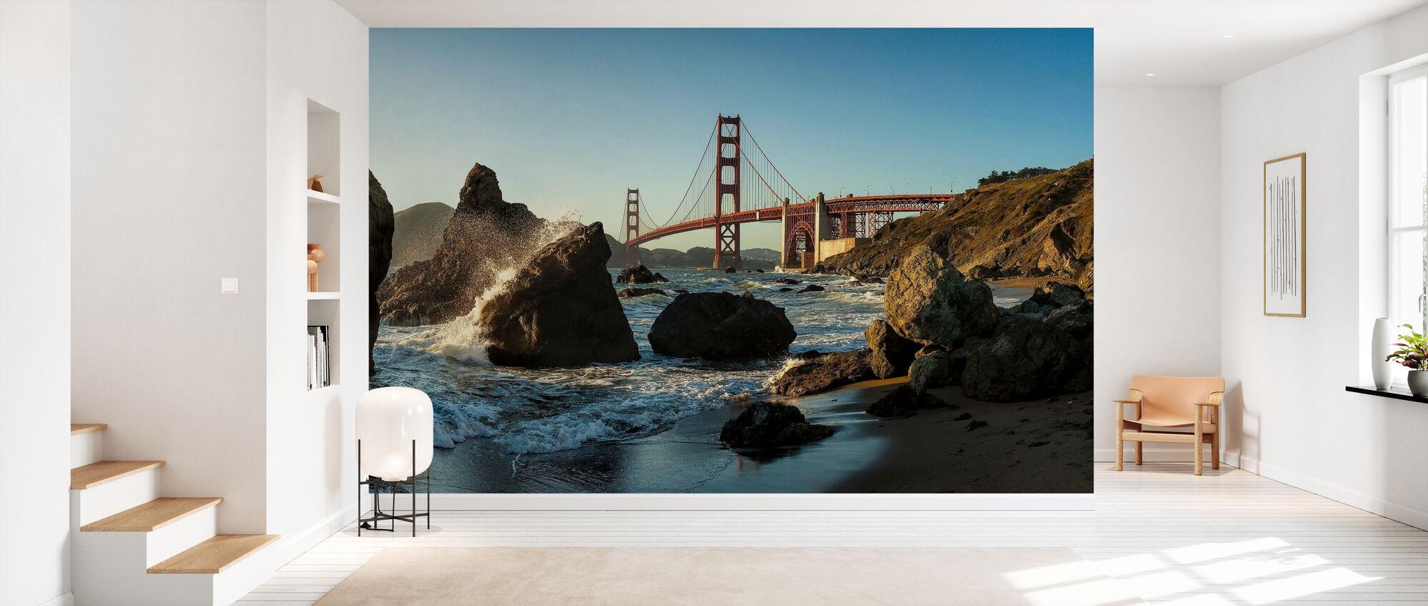 Rocks and the Golden Gate - Wallpaper - Hallway