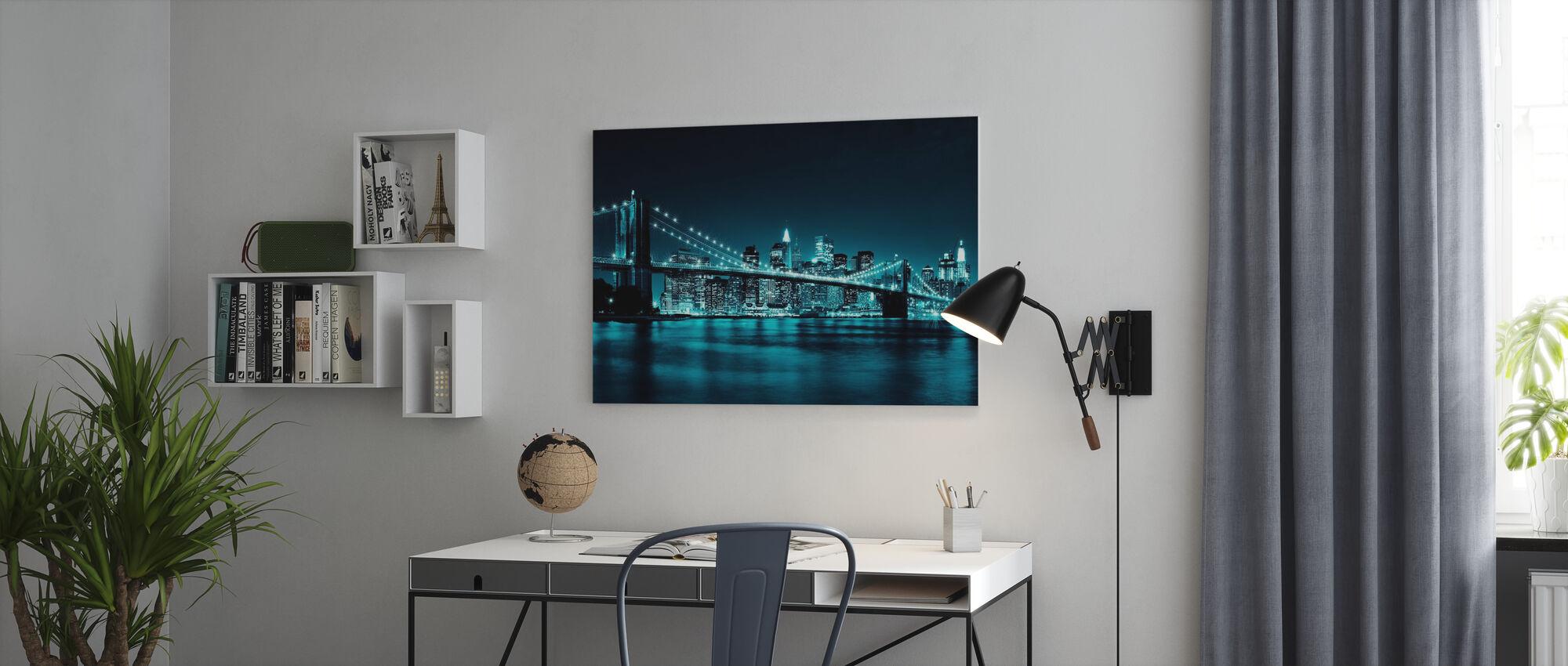 Brooklyn Bridge - Blauw - Canvas print - Kantoor