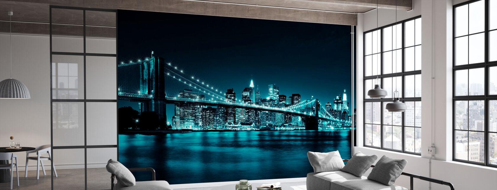 Brooklyn Bridge - Sininen - Tapetti - Toimisto