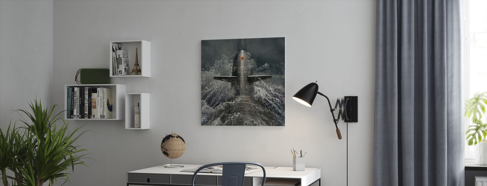 Onderzeeër - Canvas print - Kantoor
