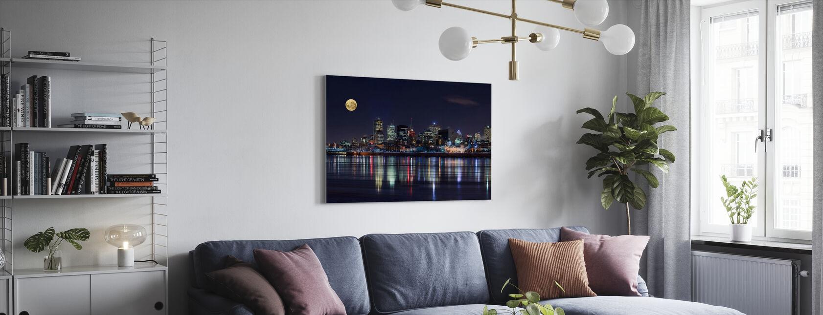 Montreal City Lights - Canvas print - Living Room