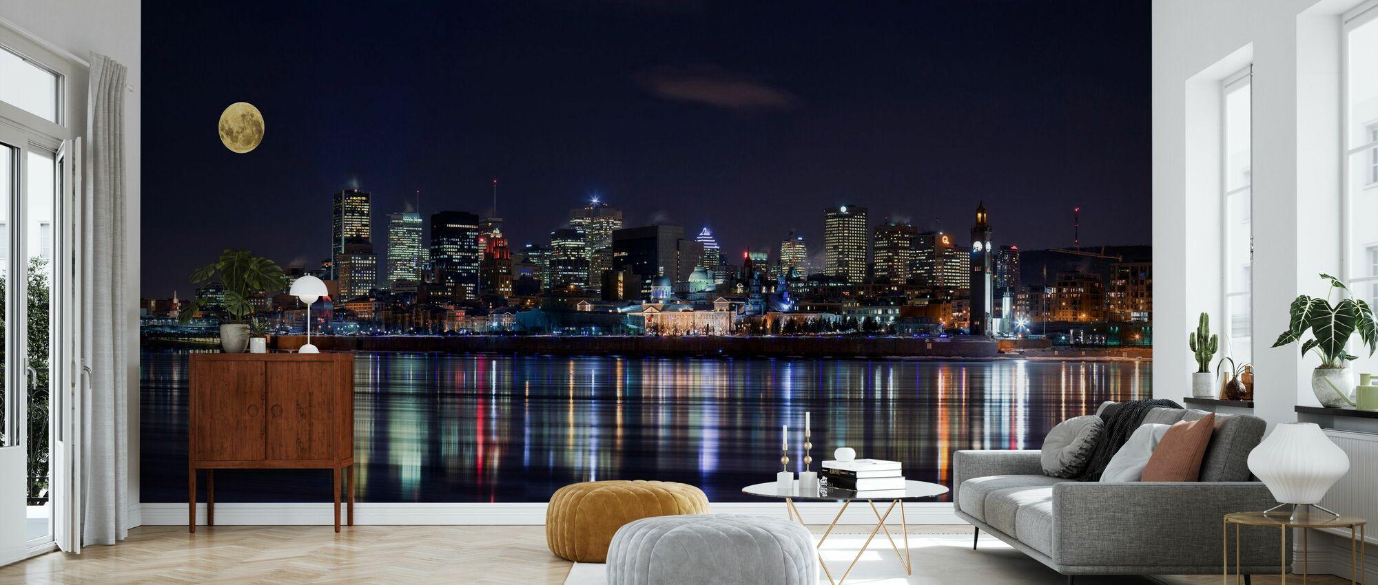 Montreal City Lights - Tapet - Vardagsrum