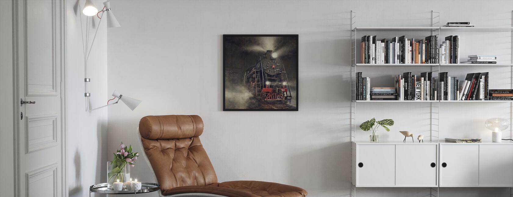 Tog i regnen - Plakat - Stue