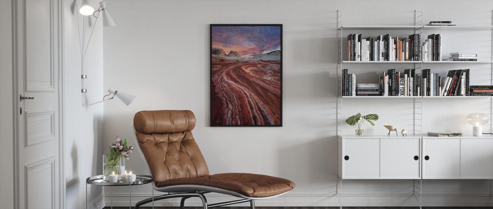 Roter Sandstein Felsen - Poster - Wohnzimmer