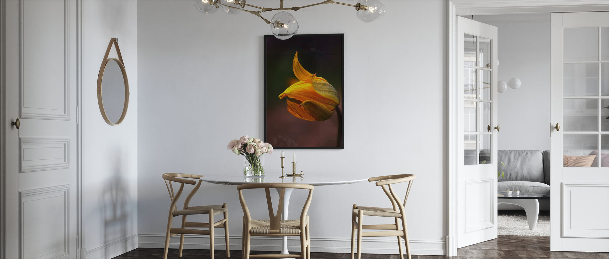 Orange Flower - Framed print - Kitchen