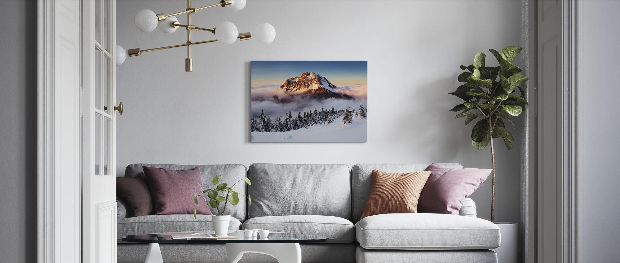 Snowy Mountain - Canvas print - Living Room