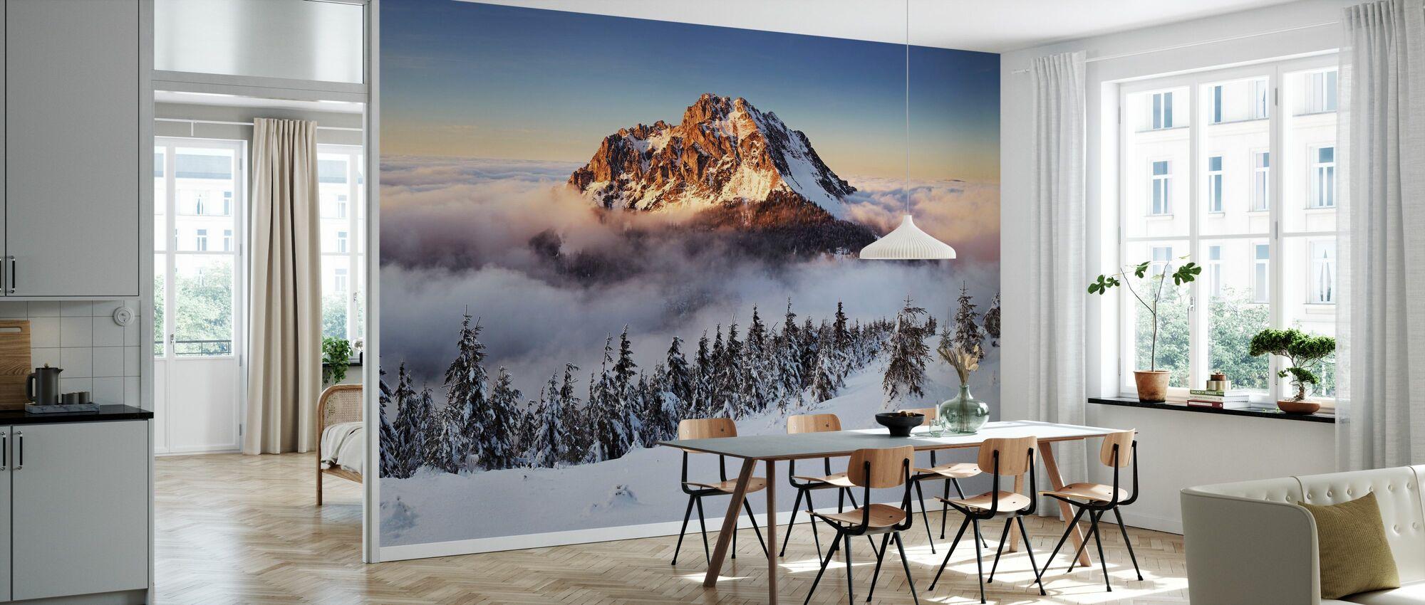 Snowy Mountain - Wallpaper - Kitchen