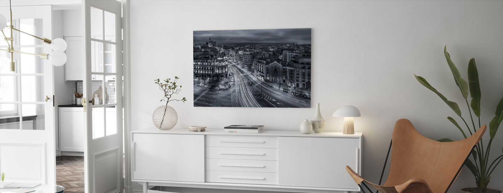 Madrid City Lights - Billede på lærred - Stue
