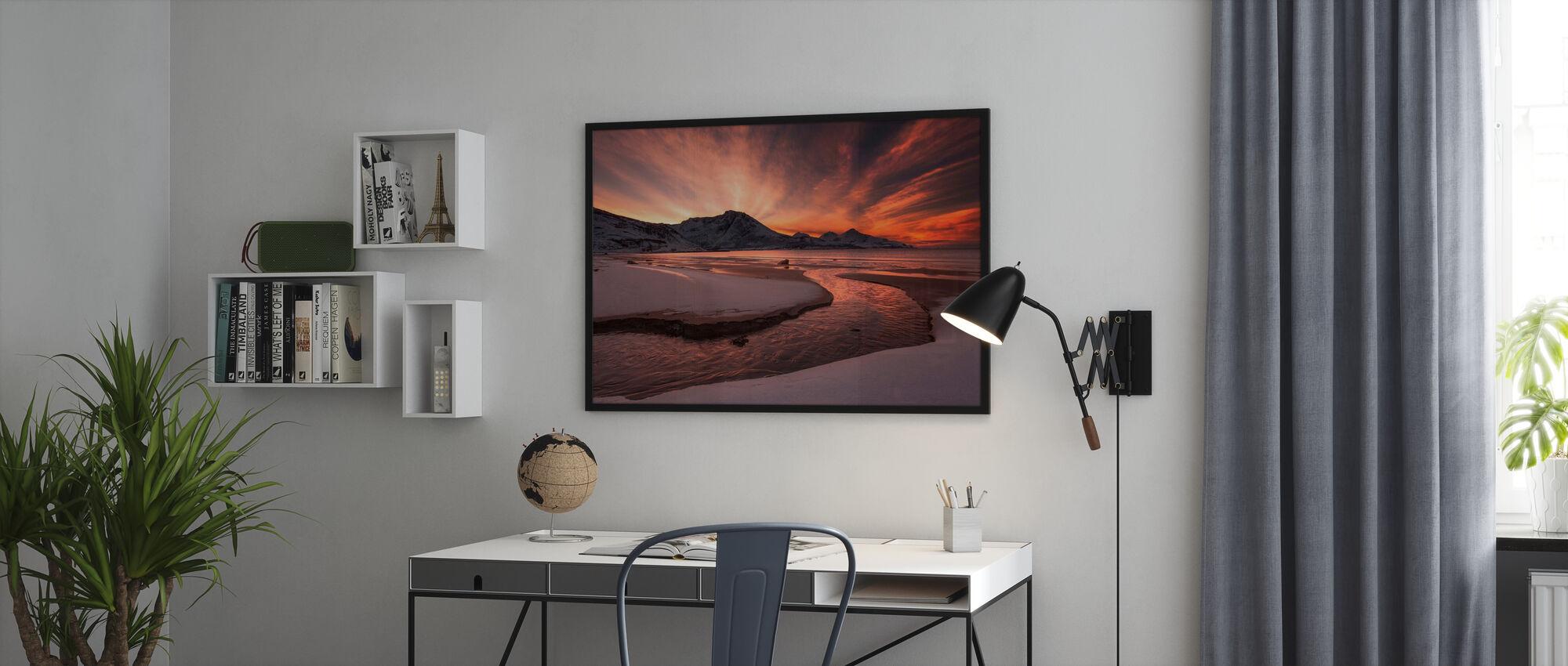 Golden Sunset i Norge - Plakat - Kontor