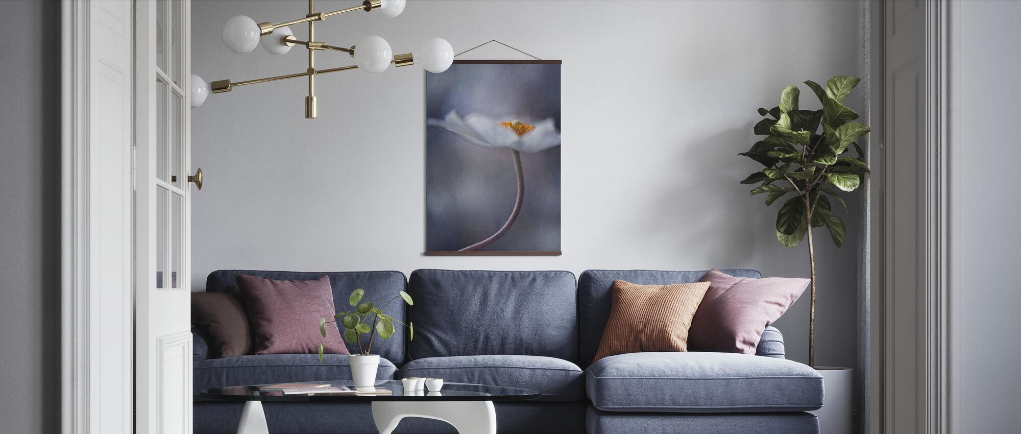 White Anemone - Poster - Living Room
