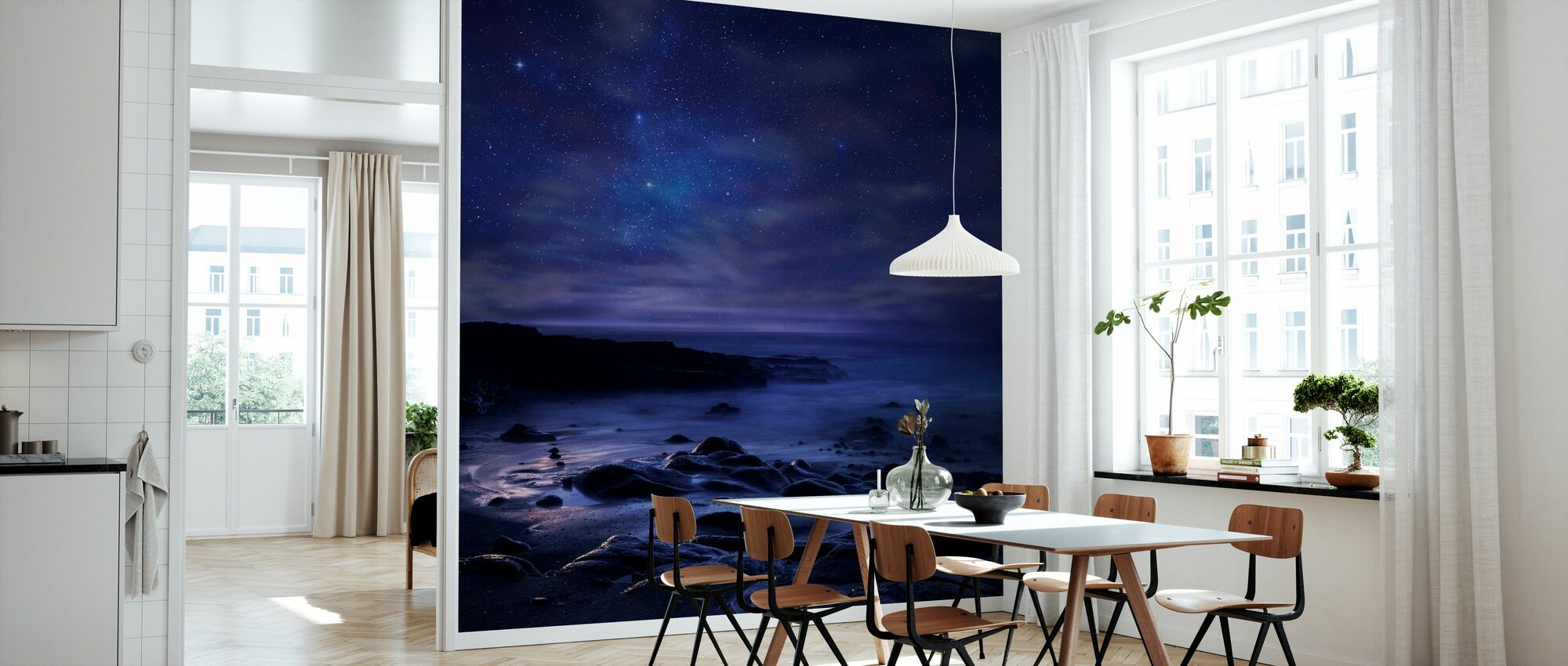 Purple Sky - Wallpaper - Kitchen