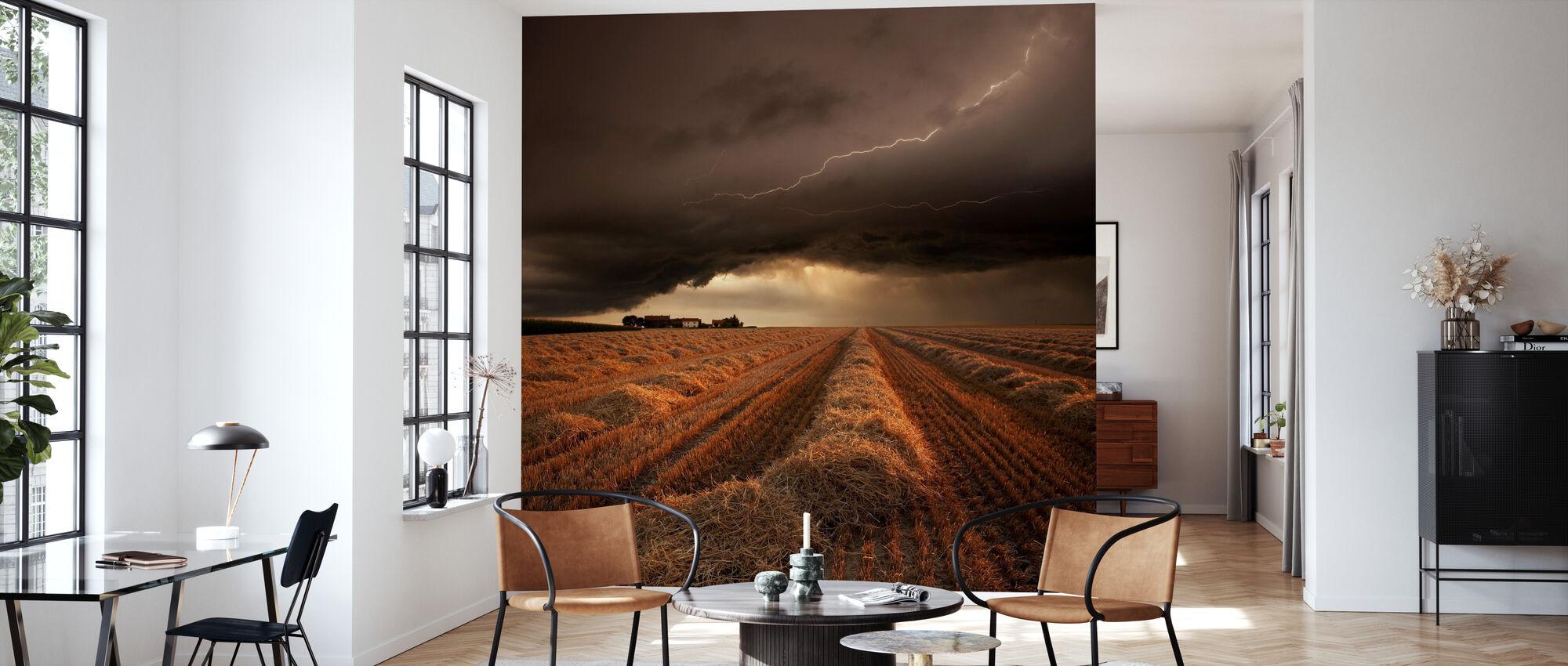 Dramatic Thunderstorm - Wallpaper - Living Room