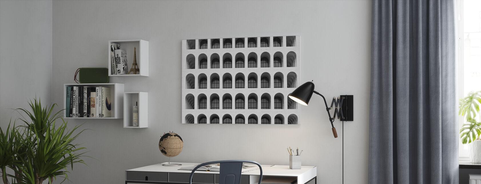 Colosseum-ikkunat - Canvastaulu - Toimisto