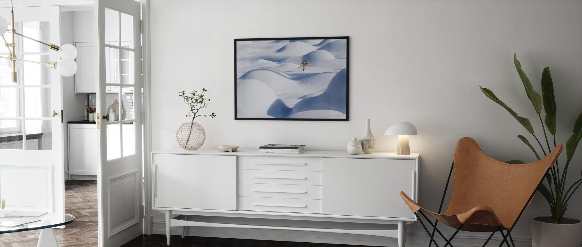 Snow Waves - Framed print - Living Room
