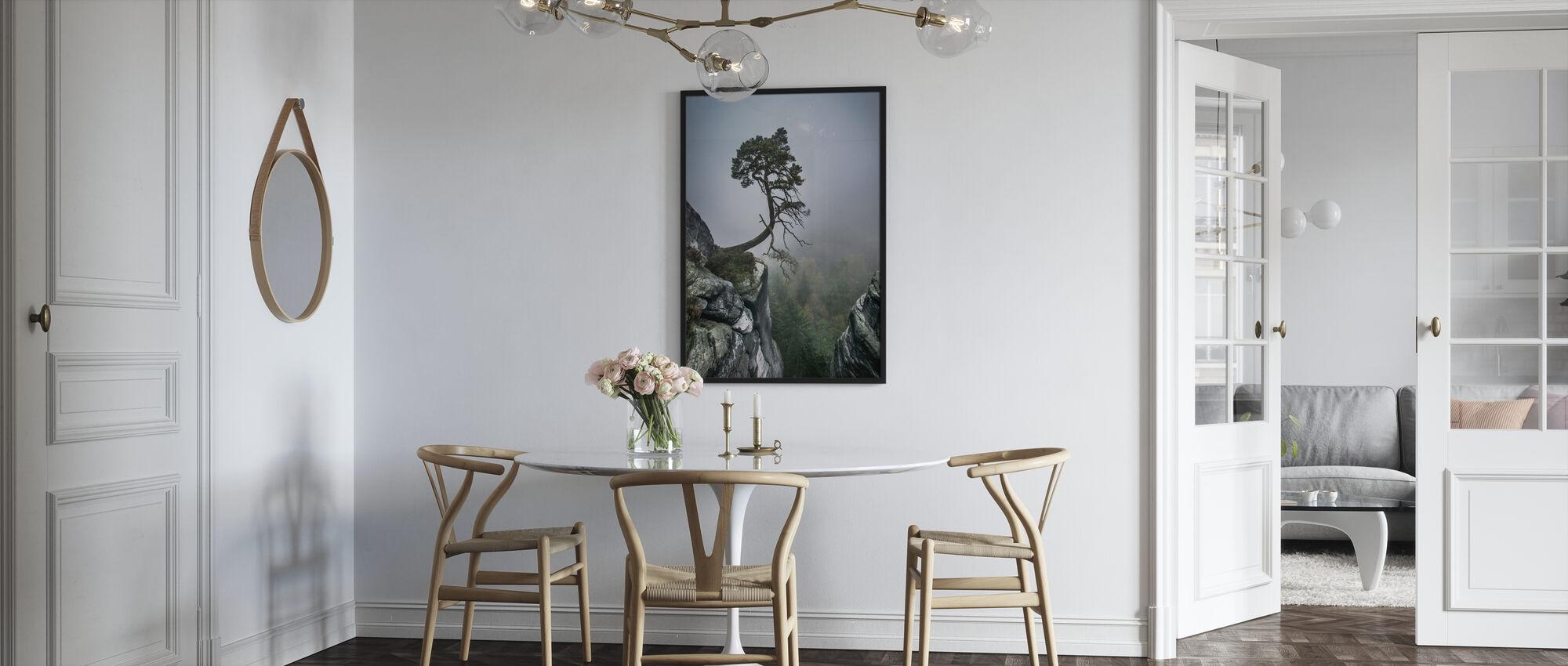 Tree on Mountain - Framed print - Kitchen