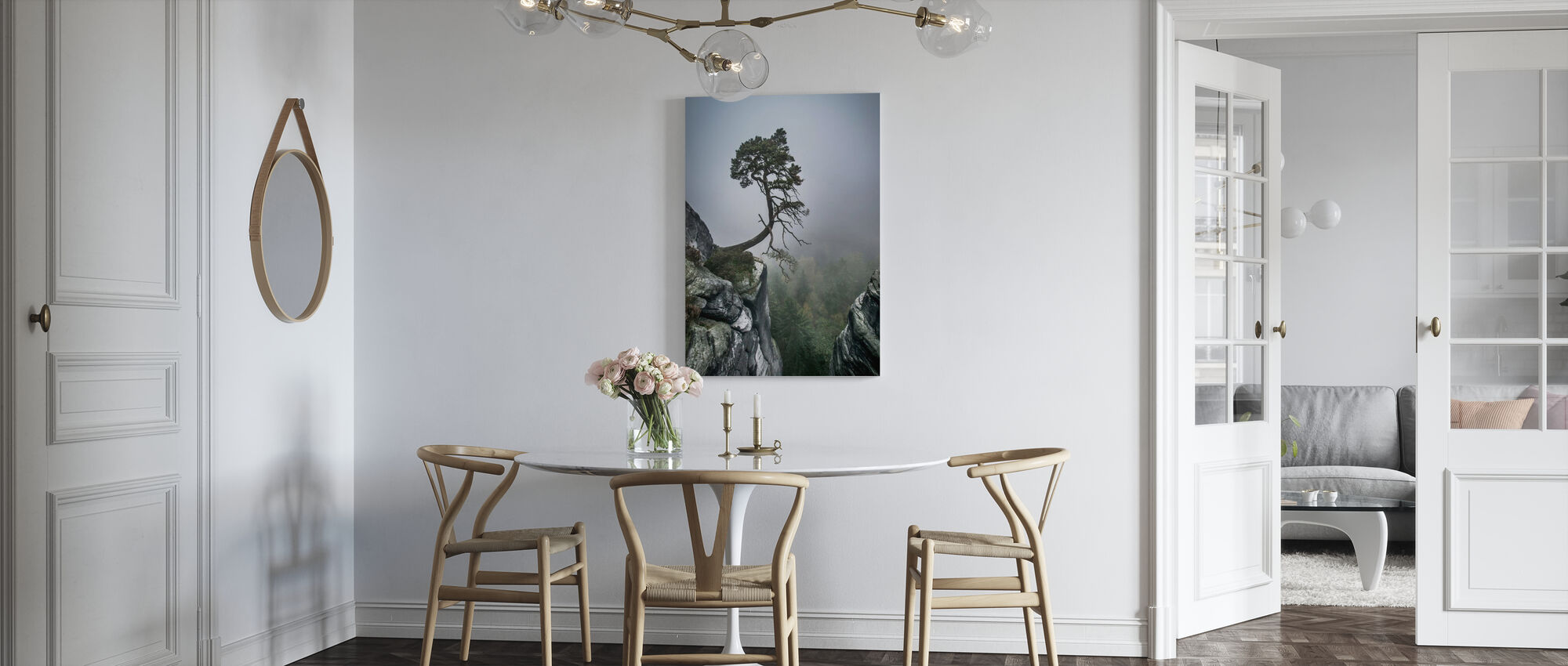 Boom op Berg - Canvas print - Keuken