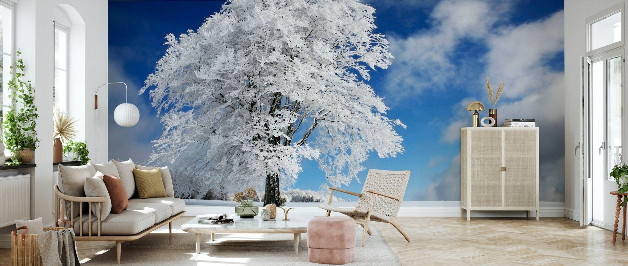 Vinter träd - Tapet - Vardagsrum