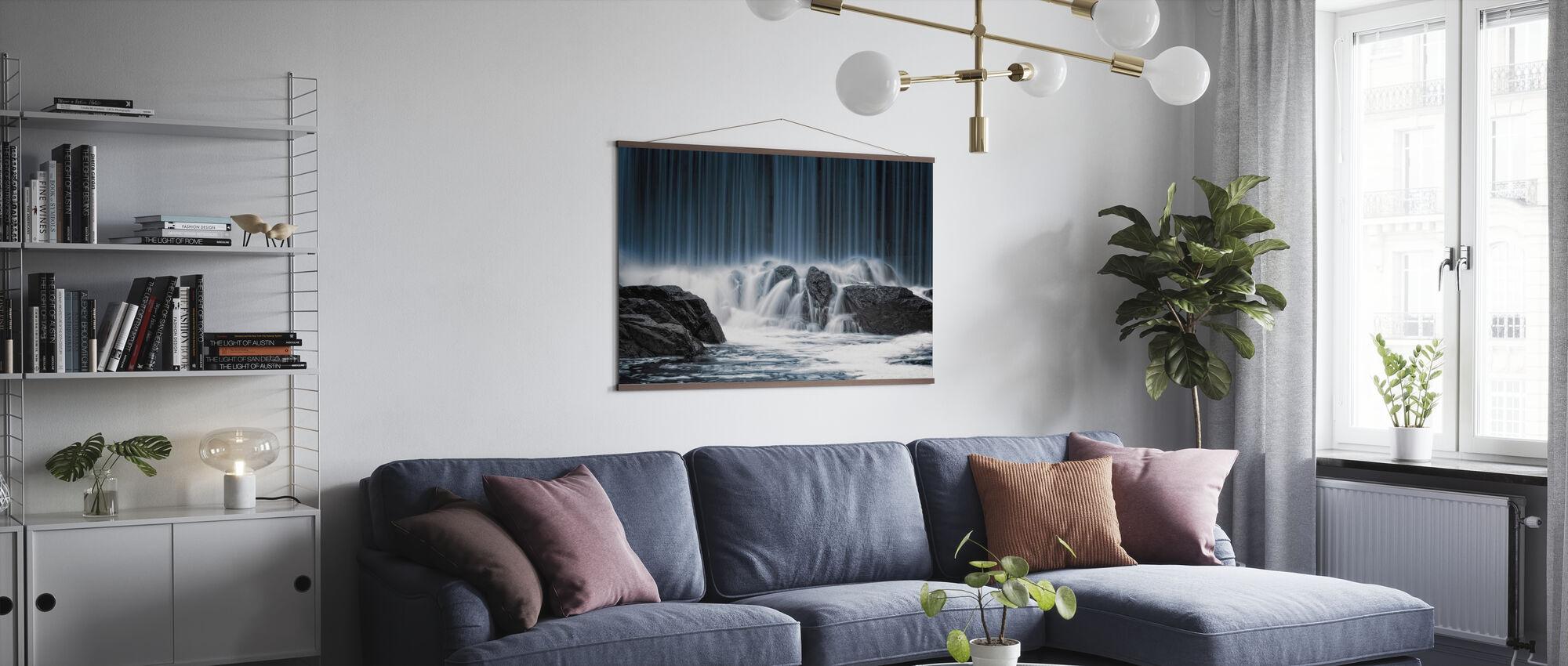 Wasservorhang - Poster - Wohnzimmer