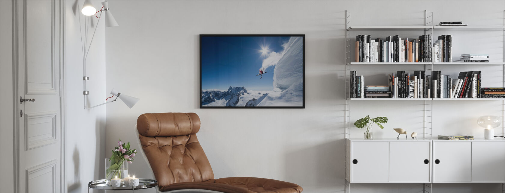 Extreme Skiing - Framed print - Living Room