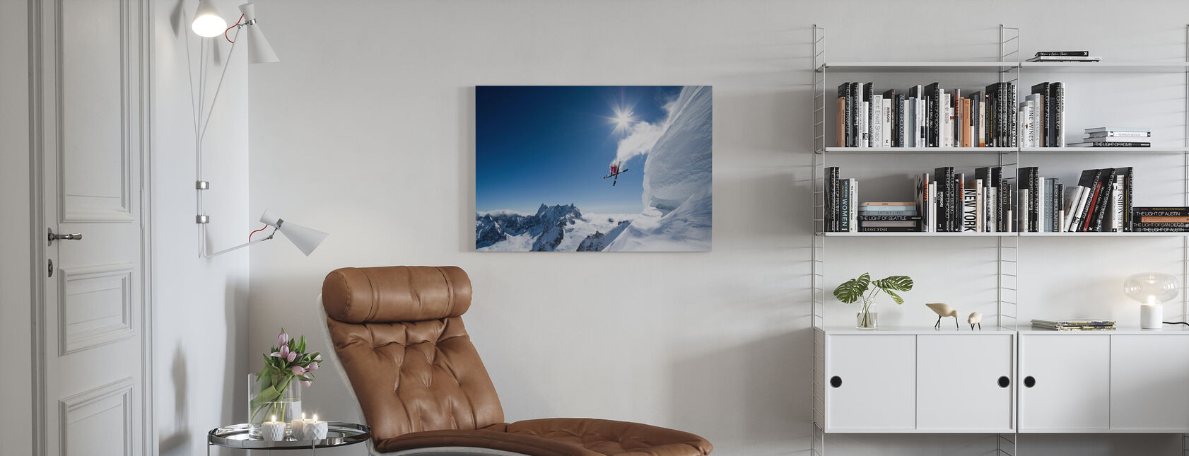 Extreme Skiing - Canvas print - Living Room