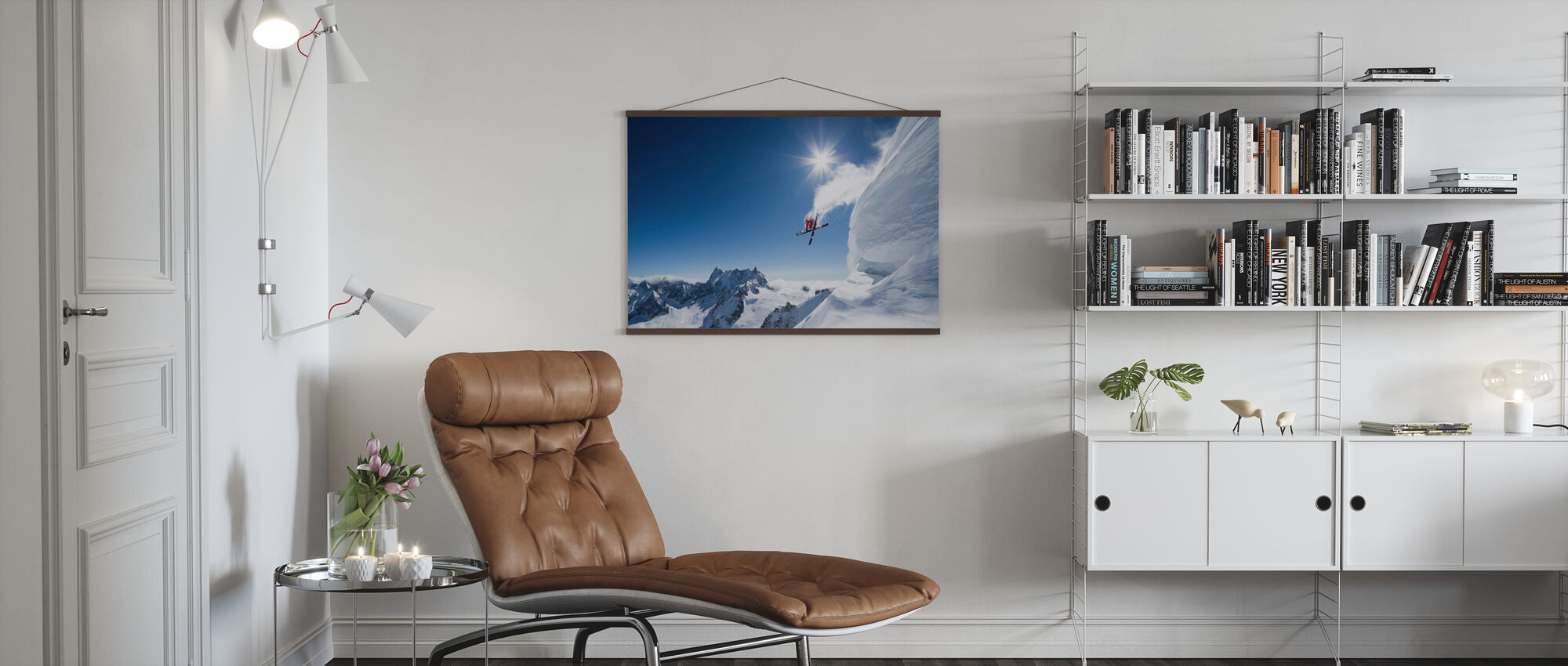 Extrem skidåkning - Poster - Vardagsrum