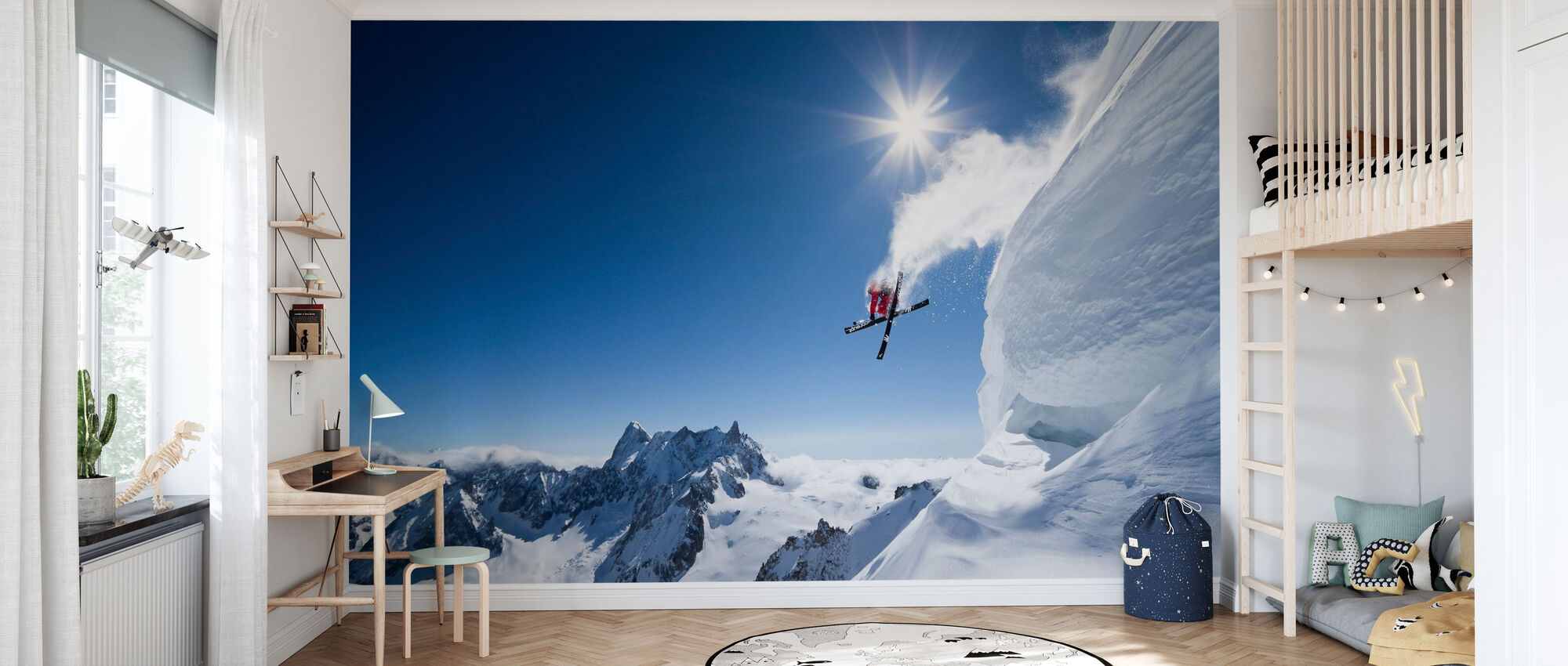 Extreme Skiing - Wallpaper - Kids Room