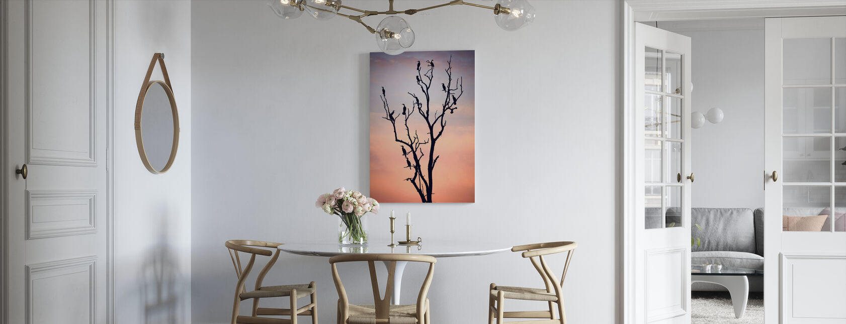 Birds Before Sunset - Canvas print - Kitchen