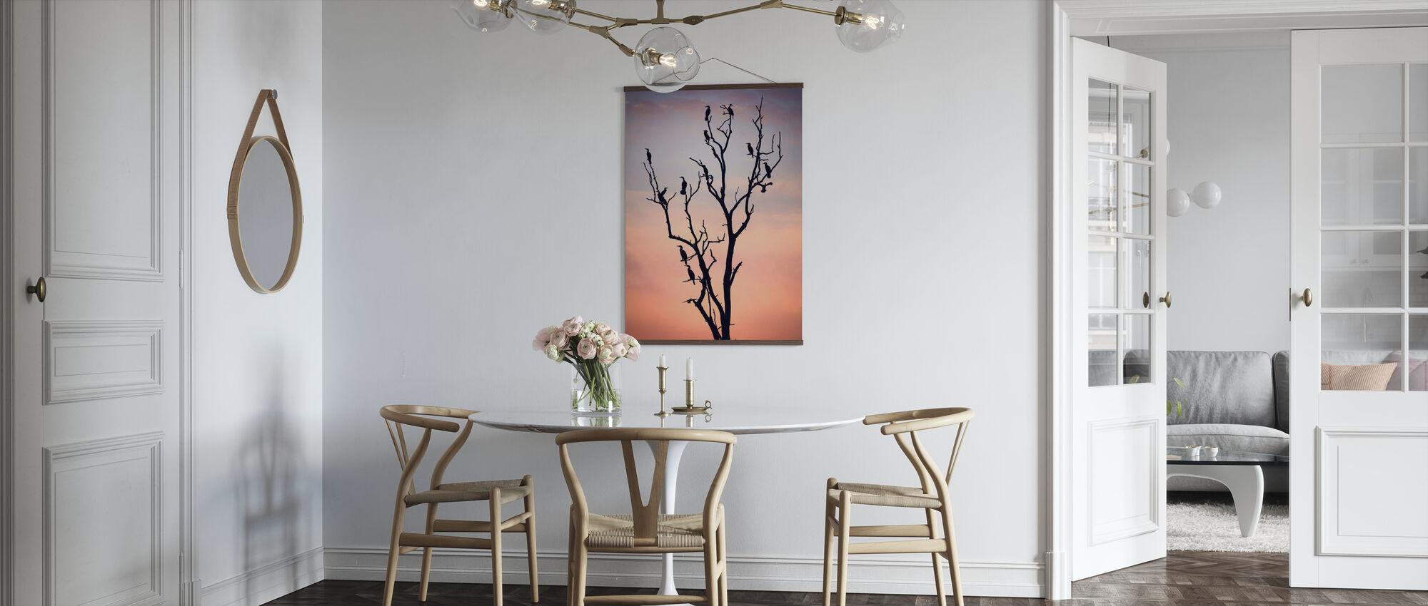Fugler før solnedgang - Plakat - Kjøkken