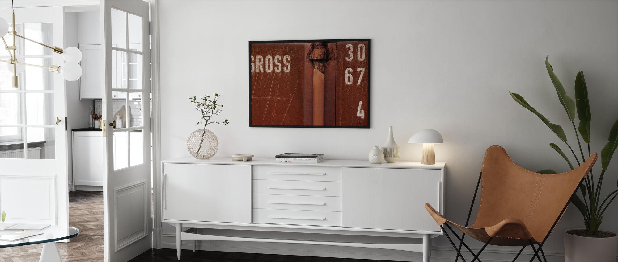 Brutto Mauer - Gerahmtes bild - Wohnzimmer