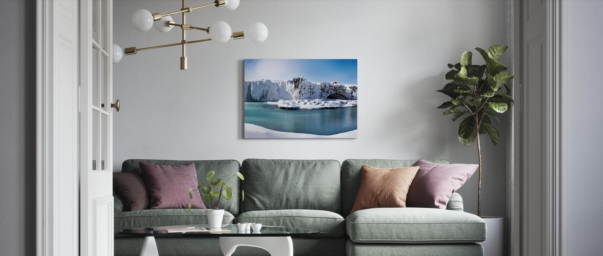 Godafoss Waterfalls - Canvas print - Living Room