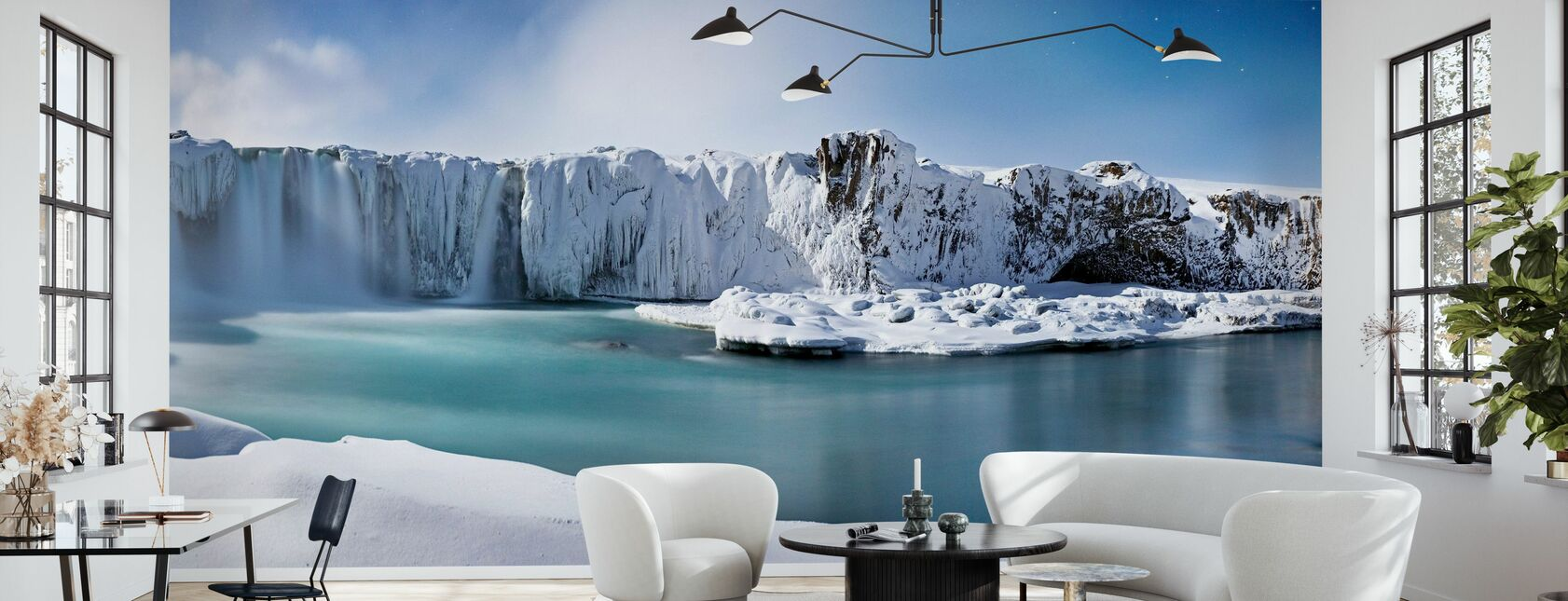 Godafoss Waterfalls - Wallpaper - Living Room