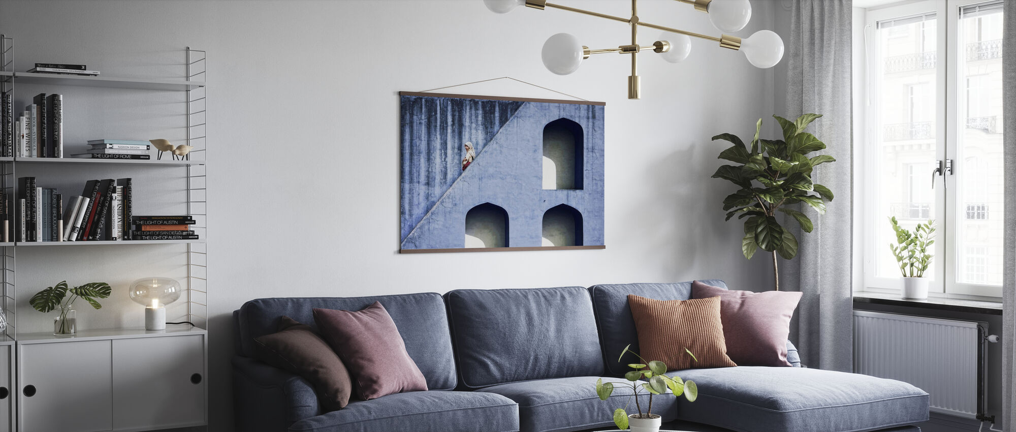 Girl on Stairway - Poster - Living Room