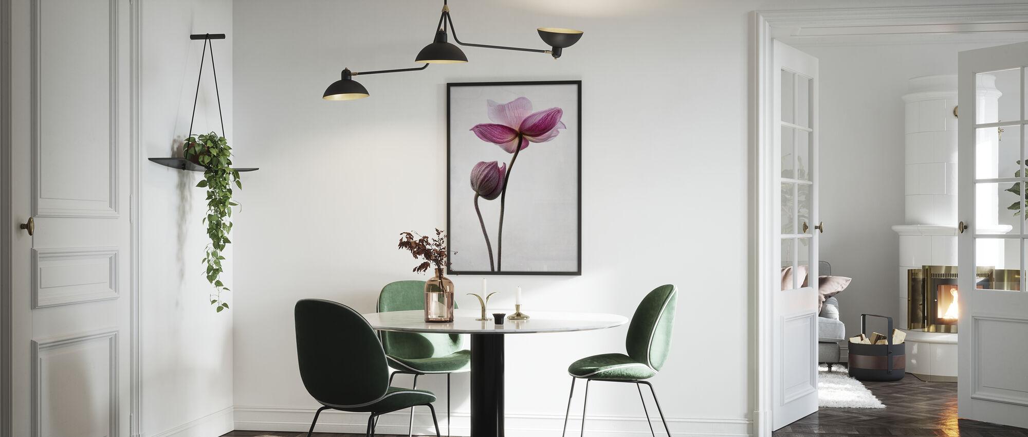 Pink Flowers - Framed print - Kitchen