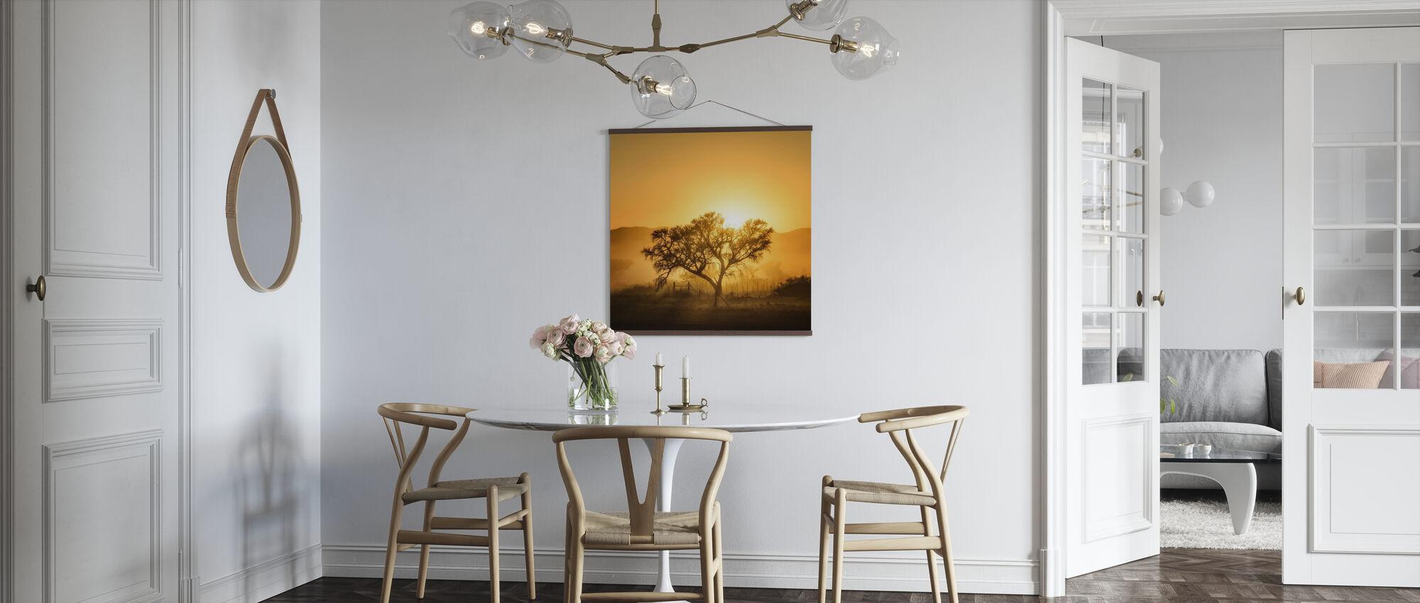 Golden soloppgang - Plakat - Kjøkken