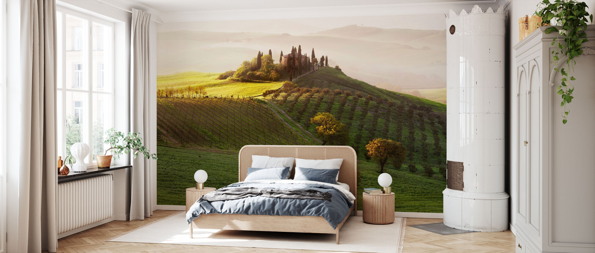 Green Landscape - Wallpaper - Bedroom