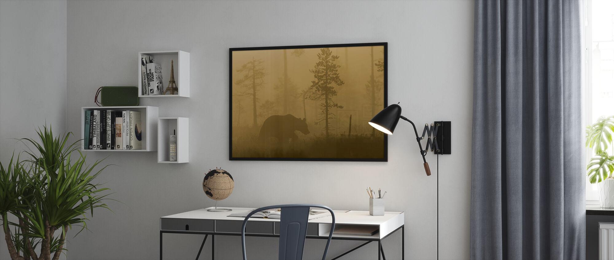 Bear in Morning Fog - Poster - Office