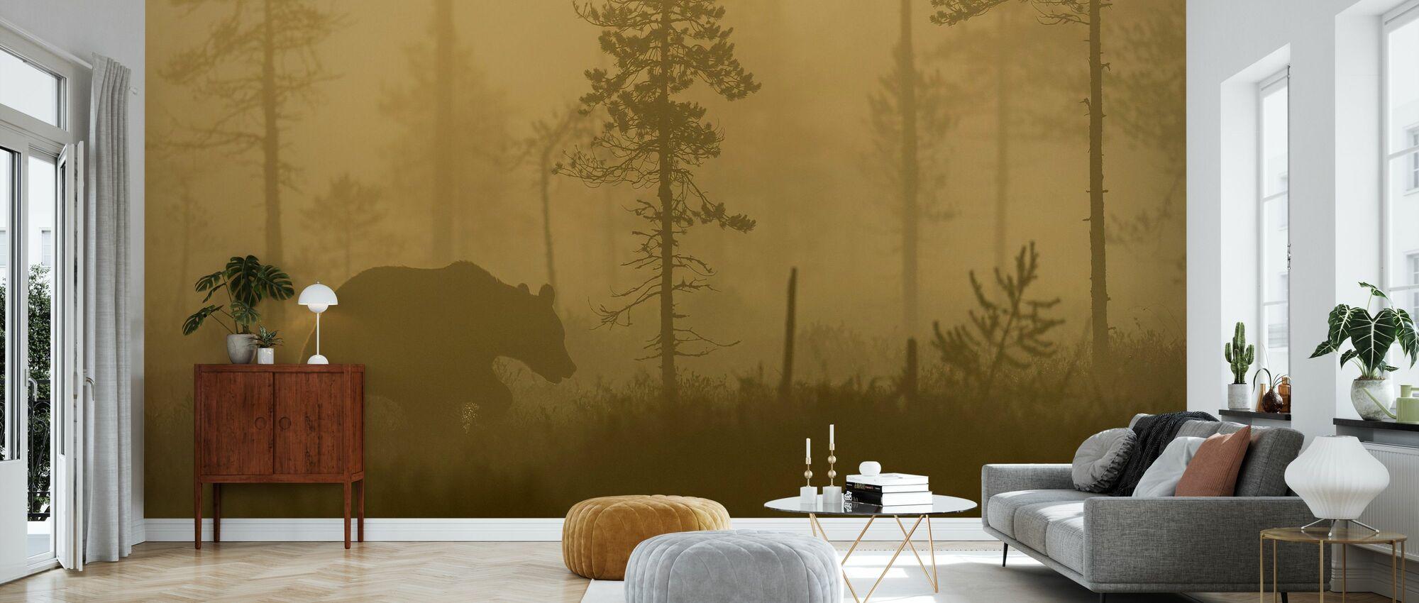 Bear in Morning Fog - Wallpaper - Living Room