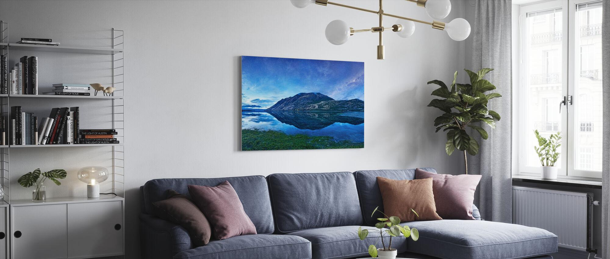 Sjö Hawea, NZ - Canvastavla - Vardagsrum