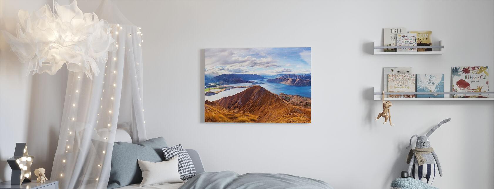 Roys Peak, NZ - Canvas print - Kids Room