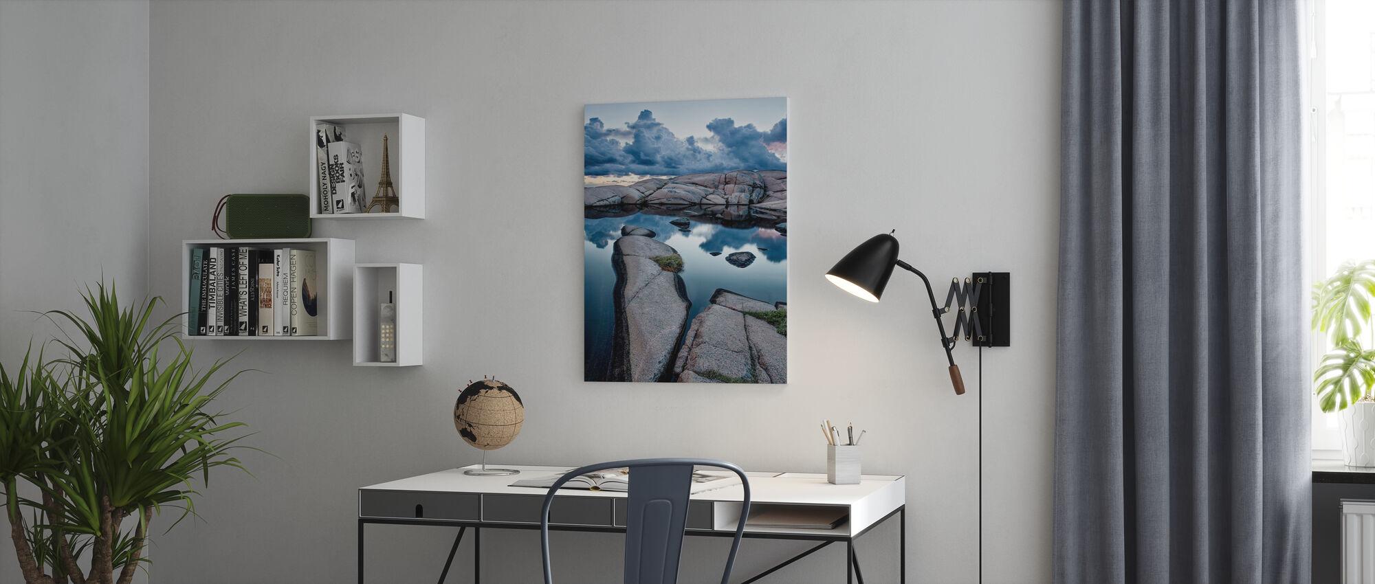 Stenen en Water - Canvas print - Kantoor