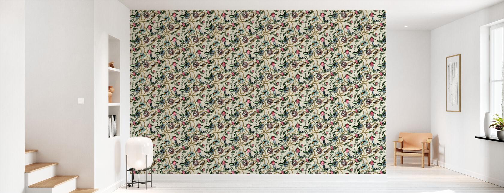 Bugs & Butterflies Hoffwhite - Petit - Papier peint - Entrée