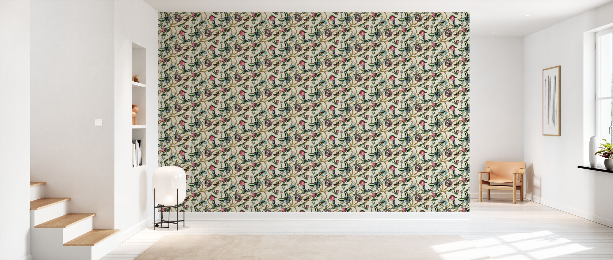Bugs & Butterflies Offwhite - Small - Wallpaper - Hallway
