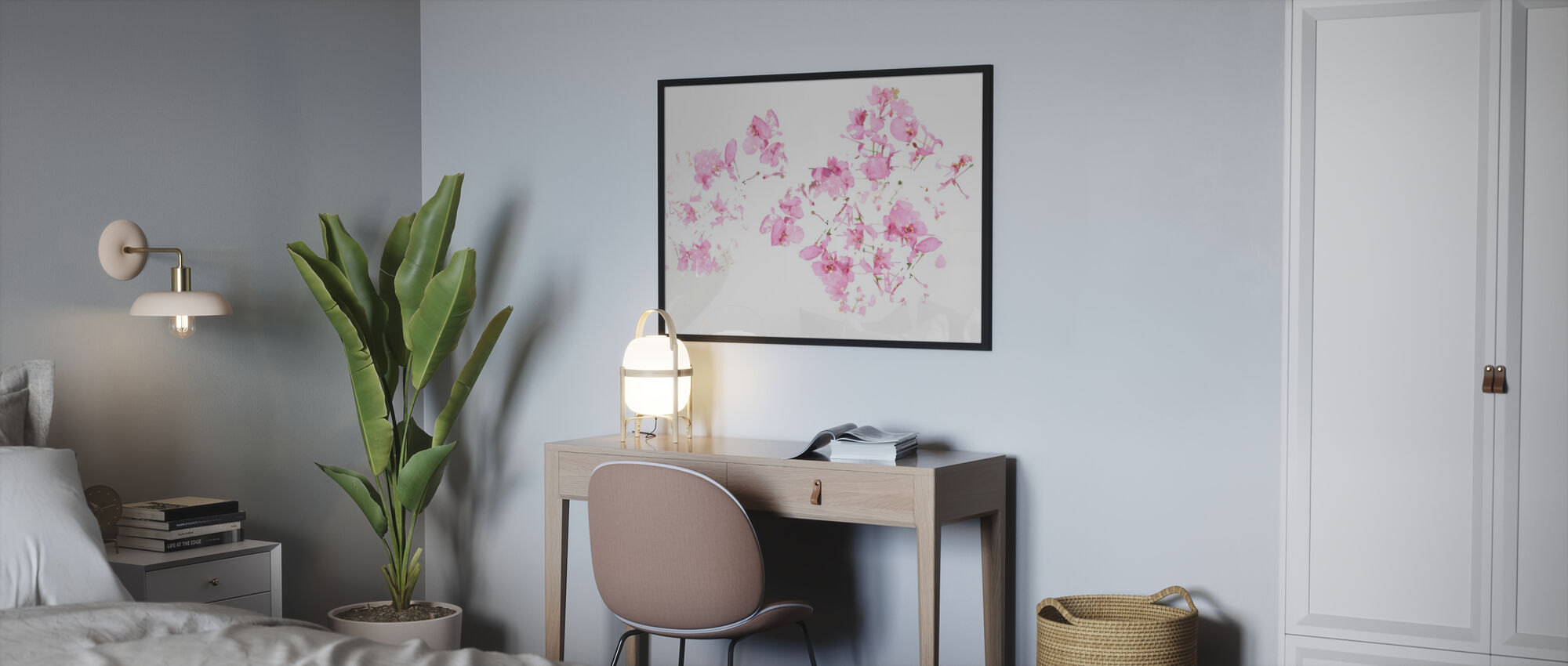 Pink Floral flow - Poster - Bedroom