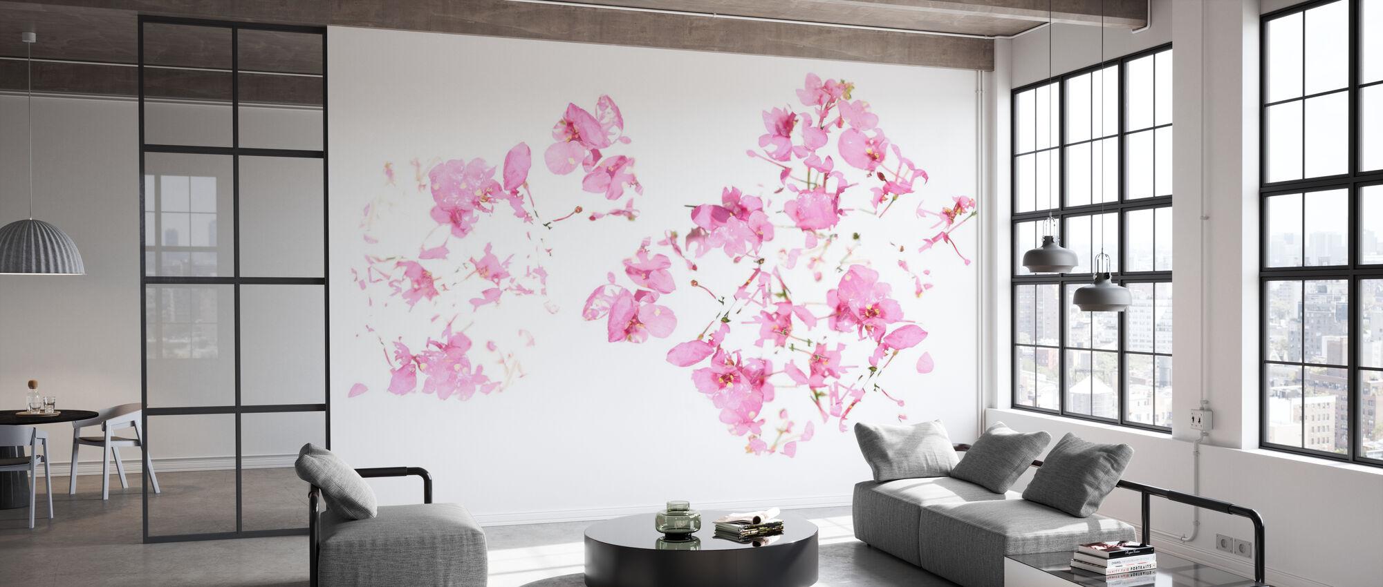 Rosa Blumenfluss - Tapete - Büro