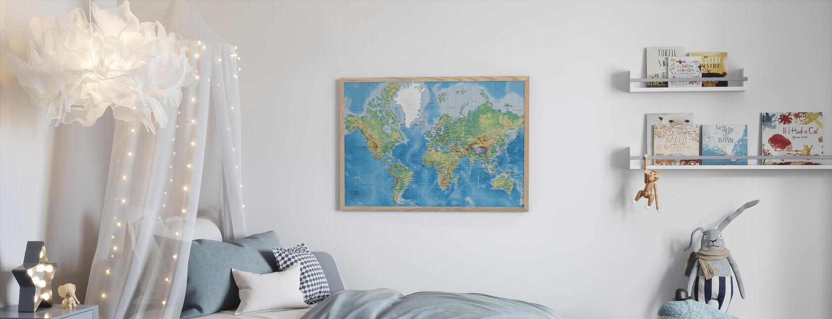 Weltkarte detailliert - Poster - Kinderzimmer