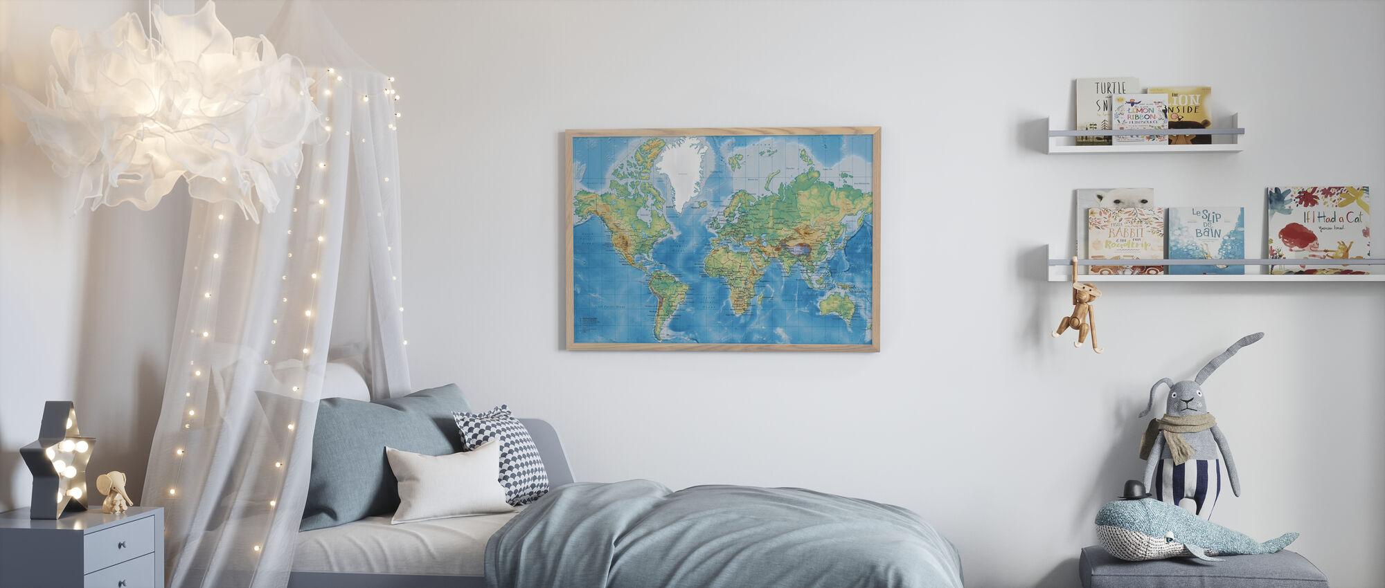 World Map Detailed - Poster - Kids Room